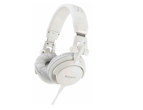 Sony MDRV55 White Extra Bass & DJ Headphones MDR-V55 MDRV55W