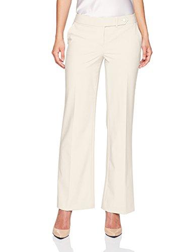 Calvin Klein Women's Petite Classic Fit Lux Pant, Cream, (Petite Cream)
