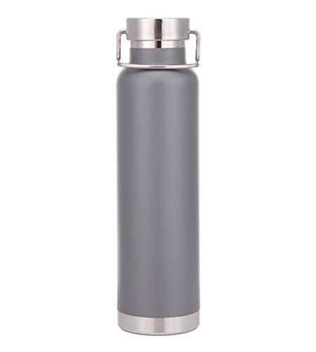 Innobottles Vacuum-Insulated Stainless Water Bottle. 20OZ .Powder Coated (silver)