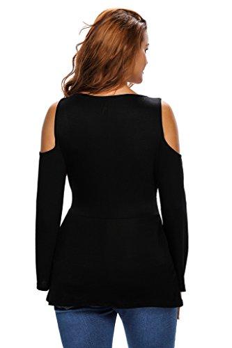 Chase Secret - Camisa deportiva - corte imperio - para mujer negro