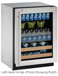 U-Line U2224BEVS15B 24 Built-in Beverage Center, Stainless Steel