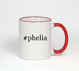 #phelia - Funny Hashtag 11oz Red Handle Coffee Mug Cup