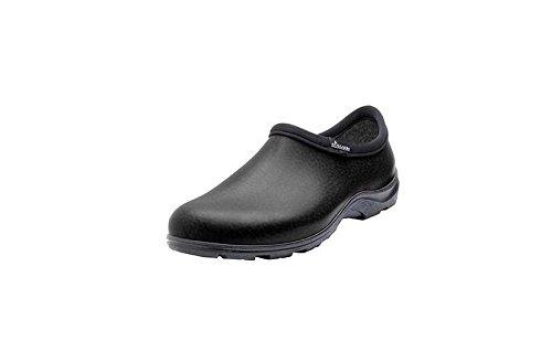 PRINCIPLE PLASTICS Garden Shoe, Black Leather, Men's Size 9