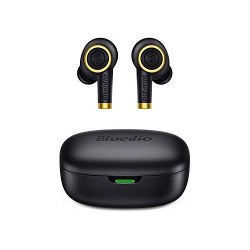 chollos oferta descuentos barato Auriculares Bluetooth Bluedio P Particle Auriculares Inalámbricos Bluetooth 5 0 Mini Twins Estéreo In Ear con Caja de Carga Portátil Auriculares Manos Libres para iOS Android Deportivos Trabajo