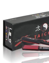 TaiCHI 1.5' Flat Iron Red/Black By Iso + Hair Massaging B...