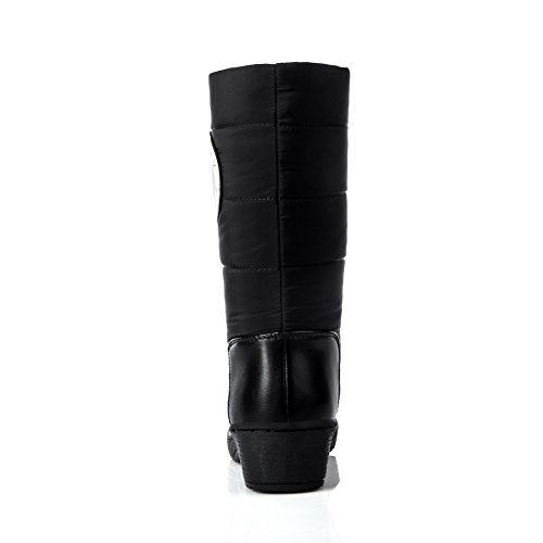 Pattern Leather BalaMasa Carved Pull Bottom Boots Thread Girls on Imitated Black Wave 1zzrwq4nxt