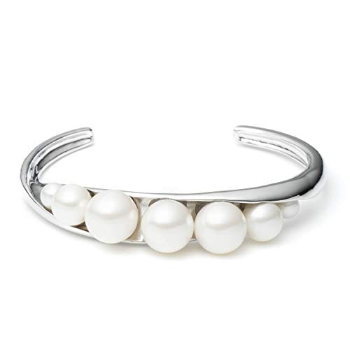 (Carolee Women's Bracelet Metal and Pearl Open Cuff)