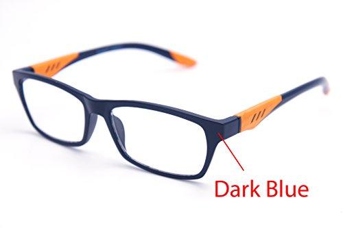 Blue 146 Shape - ColorViper 6904 Semi-Rimless Flexie Reading Glasses NEW COLOR (z3 matte blue orange, 2.25)