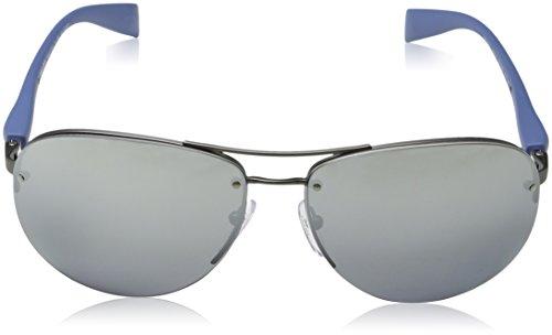 PS para 56MS Linea Gunmetal 65 de Gafas Hombre Rubber Sol Rossa Prada g4E0x07