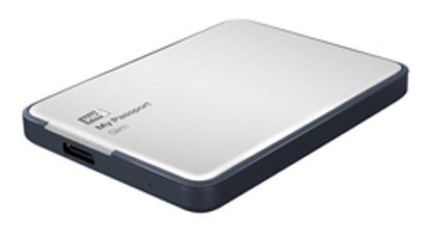 WD My Passport Slim 2TB Portable Metal External Hard Drive USB 3.0 with Auto Backup