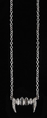 Loftus International Gothic Chic Vampire Fangs Necklace, Silver, One Size]()