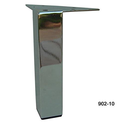 Elegant Alpha Furnishings Straight 10 Inch H Chrome Metal Furniture Leg 902 10      Amazon.com