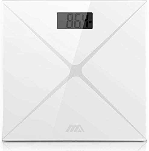 Digital Scale Precision Weighting Scale Body Fat Scale with Step-On Technology Bathroom Scale with LCD Backlight Display…
