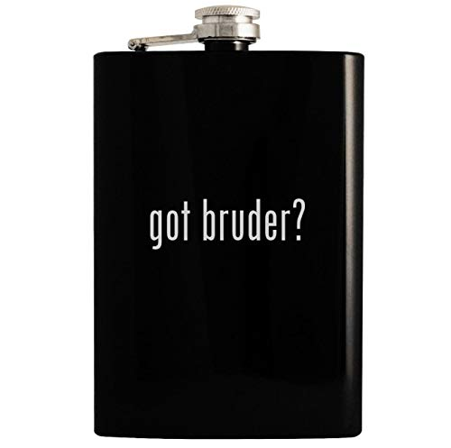 (got bruder? - 8oz Hip Drinking Alcohol Flask, Black)