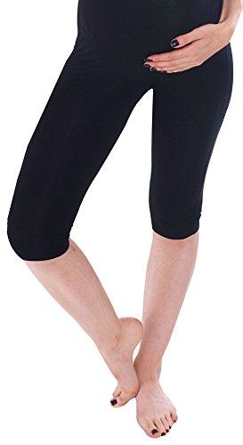 Simplicity Casual Maternity Pants W/ Elastic Waistband, Knee Length, Black