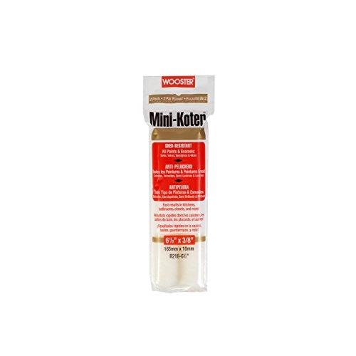 Wooster Brush R218-6-1/2 Mini-Koter Frame Shed-Resistant, 3/8-Inch Nap, 2-Pack, 6-1/2-Inch