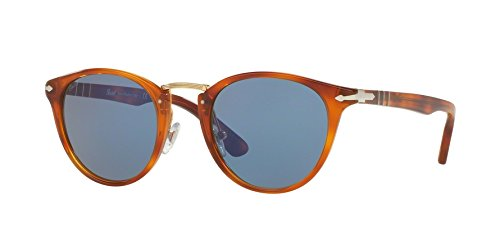 Persol PO3108s Typewriter Edition 96/56 Light Havana frame / Non polarized blue lens - Po3110s Persol
