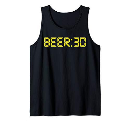 (Beer Thirty funny Beer:30 Beer Drinking Gift Tee Tank Top)