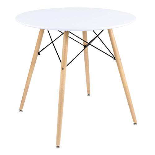 516e2c61d0fb 9 · Furmax Kitchen Dining Table White Modern Style Round Leisure Coffee  Table