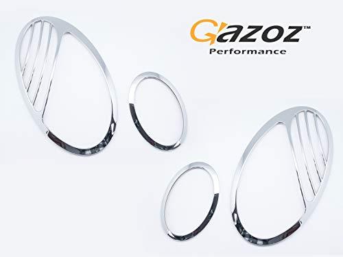Headlight Frame - GAZOZ PERFORMANCE Chrome Headlight Frames for 02-06 Mercedes Benz W211 E Class - 2007 Update Look