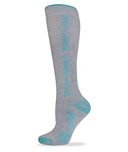 Wrangler Women's Long Live Cowgirls Boot Socks 2 Pair Pack, Teal, Medium