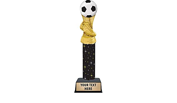 8.75 inch Girls Soccer Trophy with Free Laser Engraving