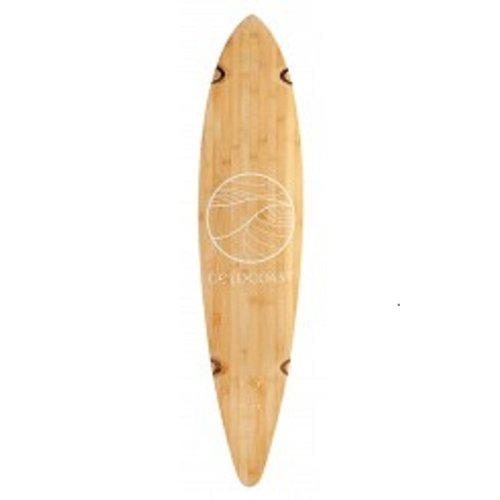 GoldCoast Skateboard - Complete Longboard - Classic Bamboo Pintail 44 Inch (Coast Skateboard Gold)