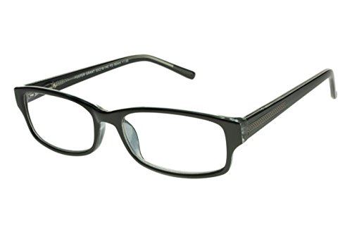 Foster Grant James Multifocus Progressive Black Reading Glasses +1.50 - Reading Lowest Power Glasses