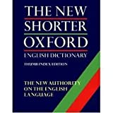 img - for The Shorter Oxford English Dictionary: with thumb index book / textbook / text book