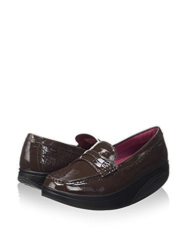 Patent Marrón coffee Mbt Luxe Shani Mocasines Penny Para loafer Mujer Bean npvCqTwH