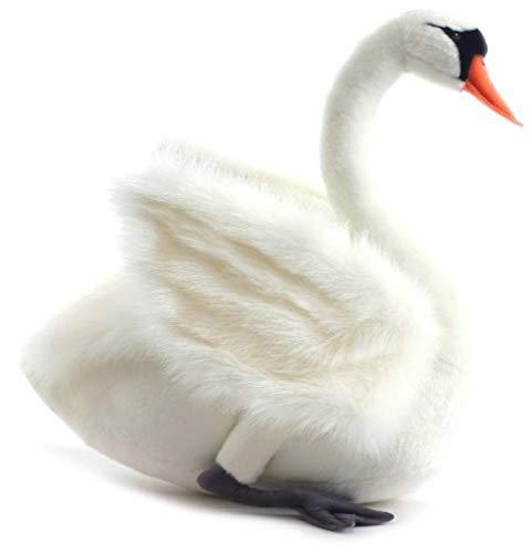 Hansa Swan Plush, White
