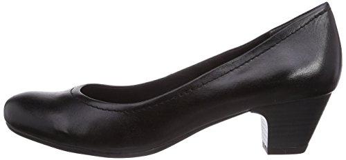 Negro Premio 22307 De 2 Cerrados Cuero Schwarz Tozzi Tacón Zapatos Antic Mujer black Marco pgn1xF5