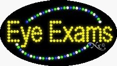Eye Exams Flashing & Animated LED Sign (High Impact, Energy Efficient) ()