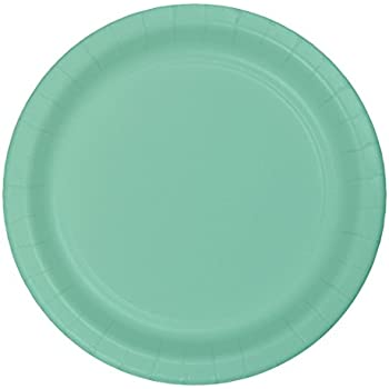 Creative Converting 318894 72 Count Paper Lunch Plate, 7, Fresh Mint (Value Pack)