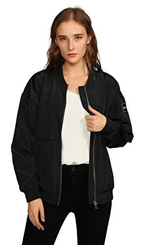 Urban CoCo Women's Classic Bomber Jacket Biker Zipper Coat