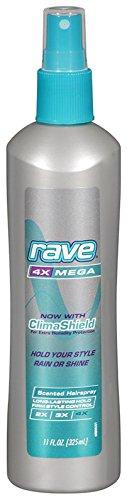 Rave 4X Mega Scented Hairspray -