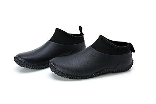 Image of Men Rain Boots Leisure Cattle Blooming Water boots Men Low Short Boots Car Wash Waterproof Outdoor