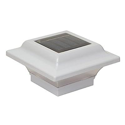 Classy Caps 2.5 x 2.5 in. White Aluminum Imperial Solar Post Cap