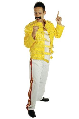 Medium Yellow & White Men's Rock Legend (Freddie Mercury Costume)