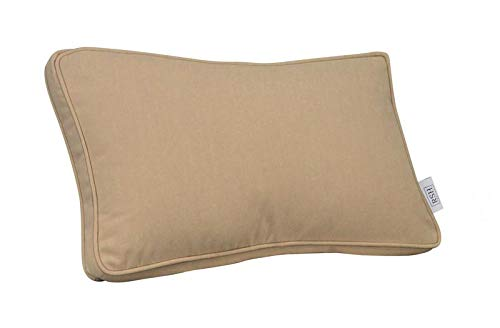 RSH Décor Indoor ~ Outdoor Decorative Box Lumbar Rectangle Throw Pillow Made of Sunbrella Canvas Vellum ()