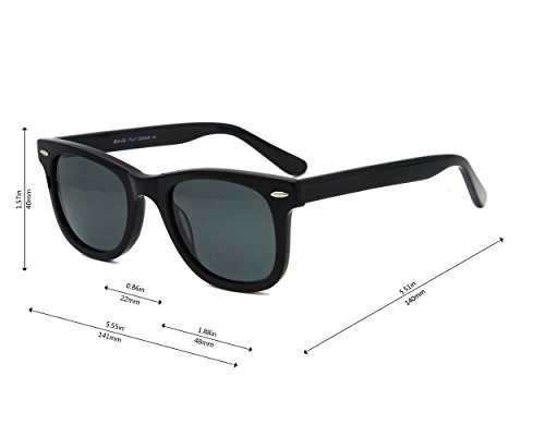 Great Noir Sunglasses lens Eyewear Glass Classic Acetate Vision 8qI4R6