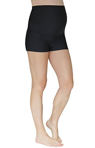 Mermaid Maternity Women's Maternity Boyshort Swim Bottom Small Jet Black