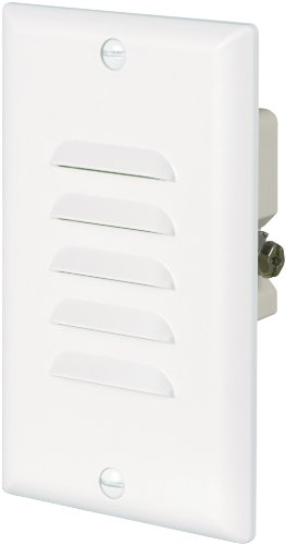 Eaton 7739W 15-Amp 120-Volt LED Steplight with Vertical and Horizontal Louvered Wall plates, White (Recessed Vertical Step Light)