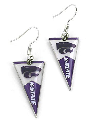 NCAA Kansas State Wildcats Pennant EarringsPennant Earrings, Team Color, 2.5