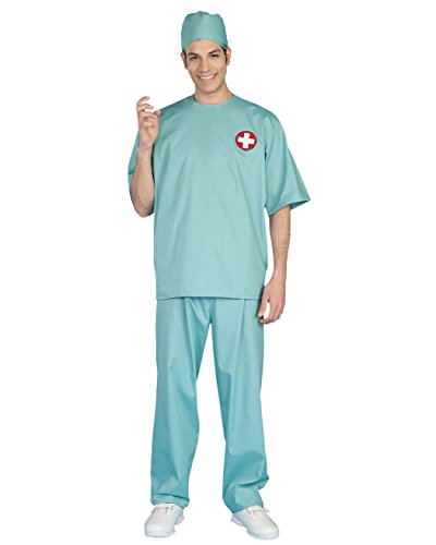 Mens Theatre Costumes Medical Doctor Couples Costume Scrubs Hospital Surgeon Sizes: One (Dr Girlfriend Costume For Sale)