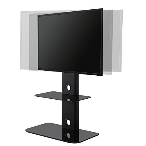 32 inch tv stand fitueyes floor tv stand with mount swivel for 32 60 inches 29086