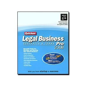 New Nolo Press Inc. Quicken Legal Business Pro 2008 Contracts & Forms Popular High Quality