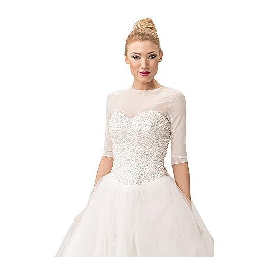 Exceptionnel Bridal Tulle Bolero Shrug Dress T Shirt Wedding Jacket