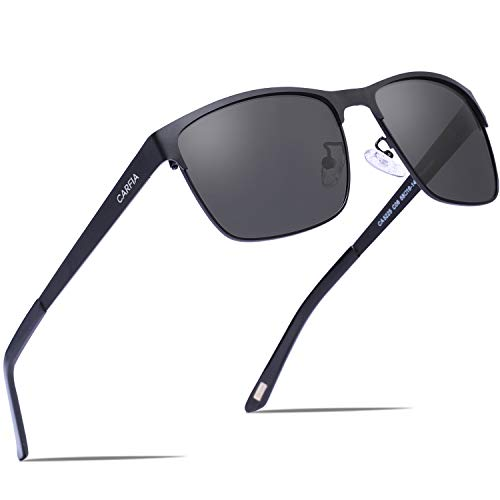 Carfia Men's Sunglasses Polarized UV400 Protection for Driving Fishing Hiking Everyday ()