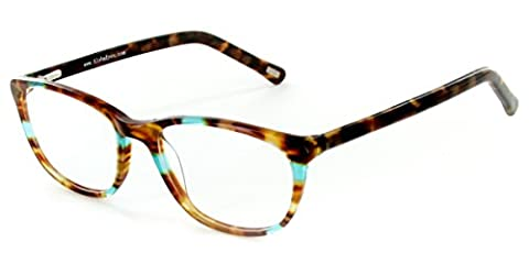 Aloha Eyewear Tek Spex 1007 Women's Photo-Chromatic Progressive Bifocal Reader Glasses / Sunglasses (Tortoise / Aqua w/ Regular Tint - 2.0 Rx Eyewear